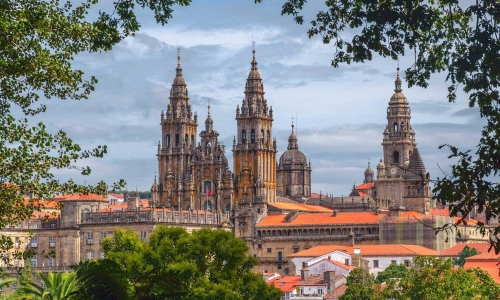 Pilger nach Santiago de Compostela