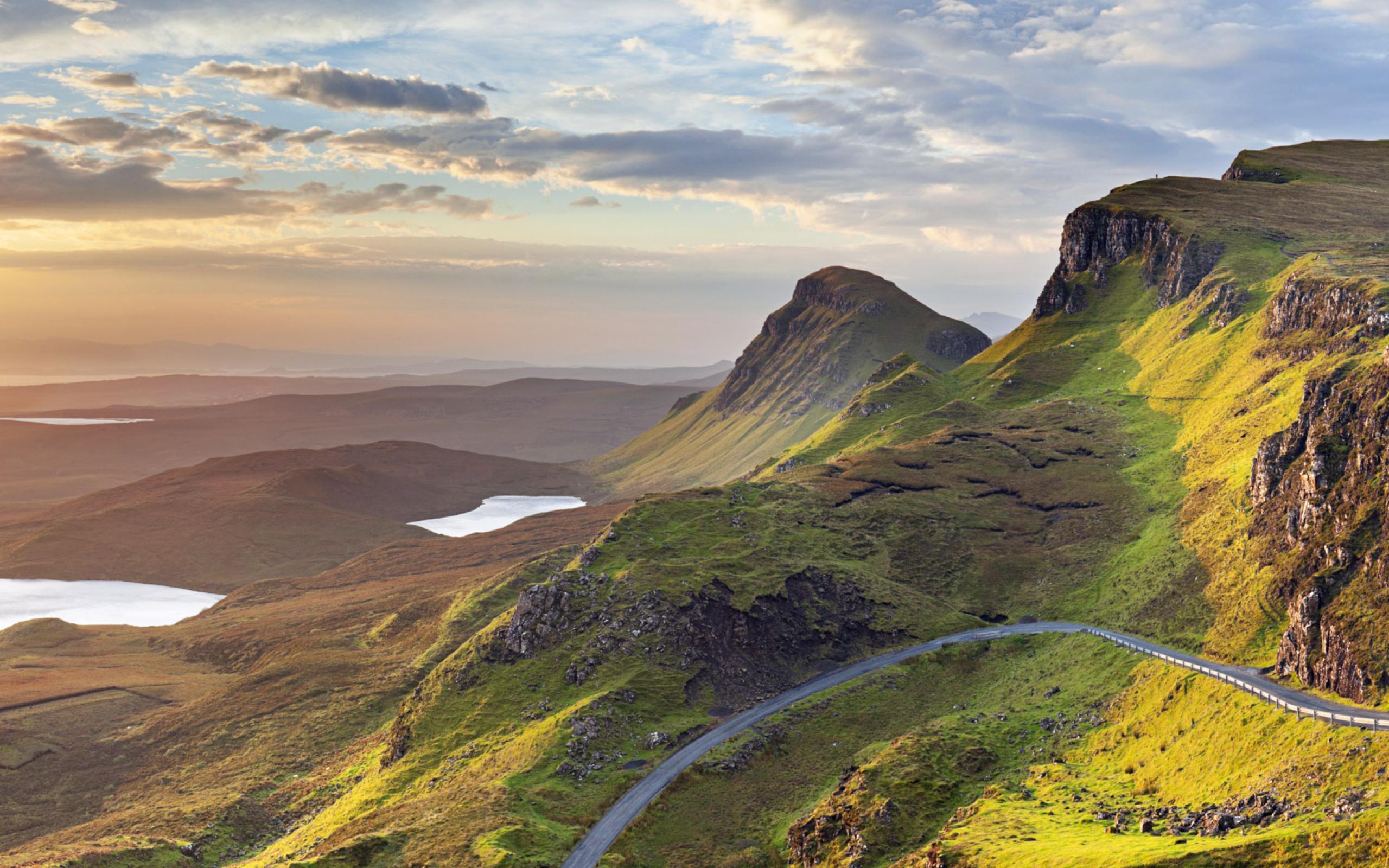 Die A82 in Schottland