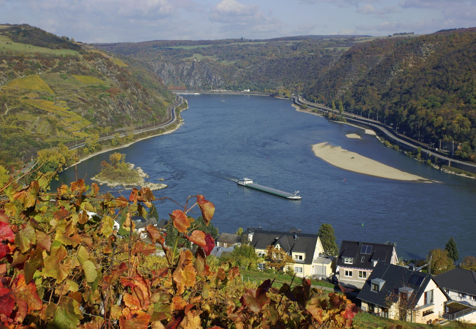 Das Rheintal in Deutschland
